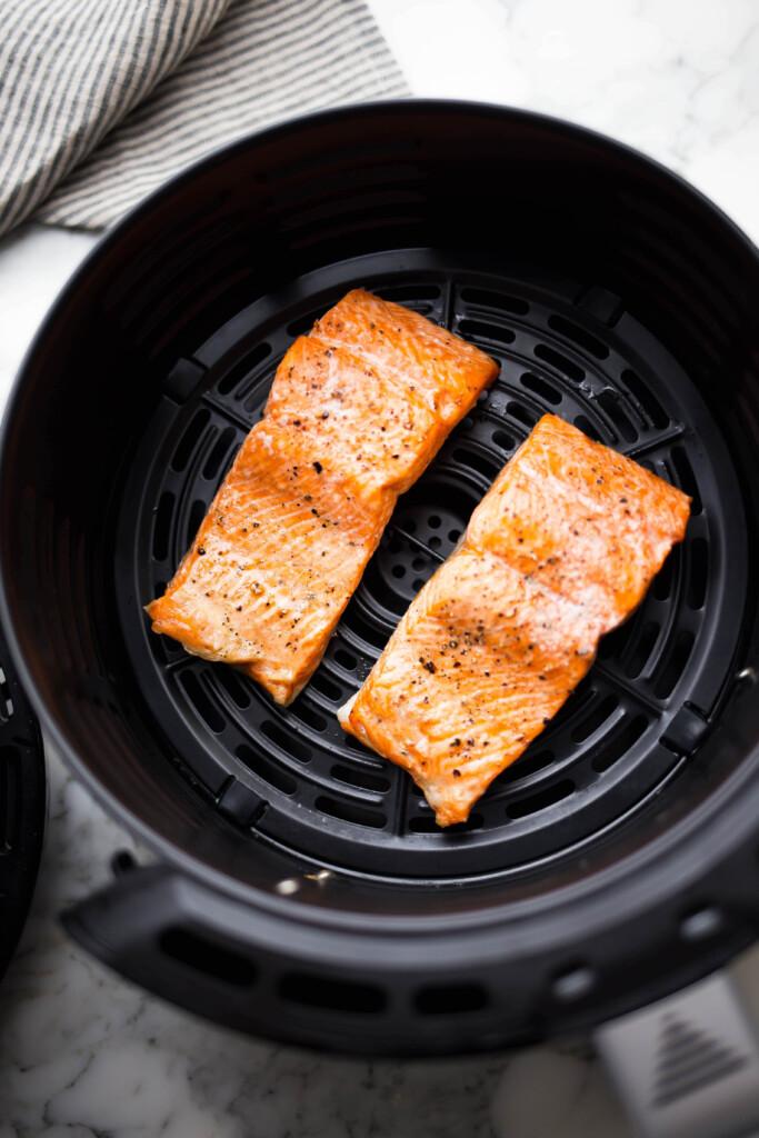 Salmon in air fryer.