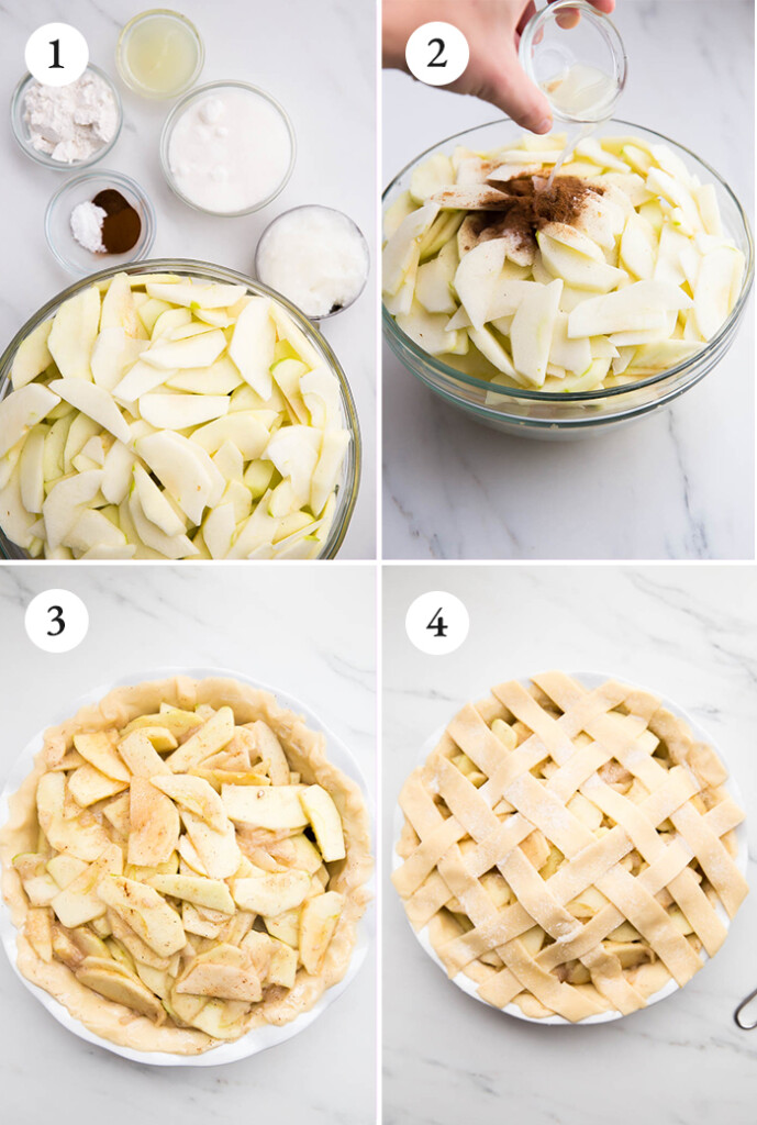 step by step instructions for vegan apple pie