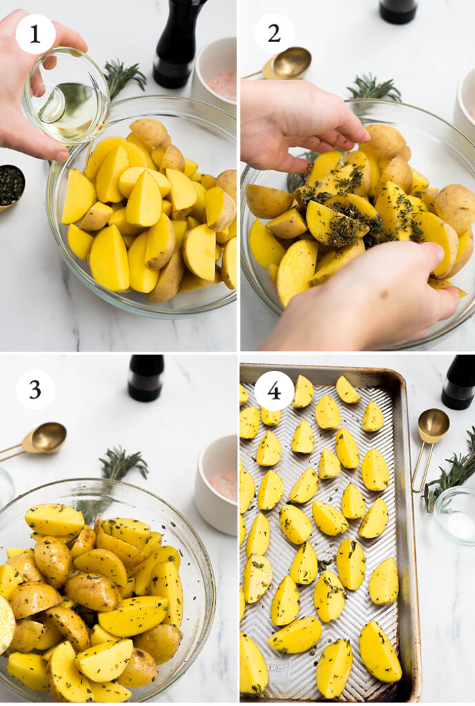 instructions on how to cook rosemary roasted potatoes