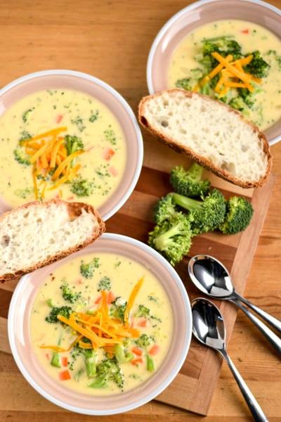 image of broccoli cheddar soup