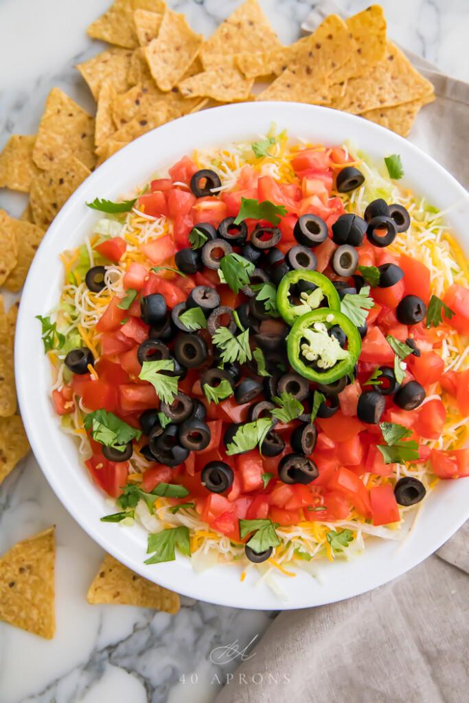 image of taco dip.
