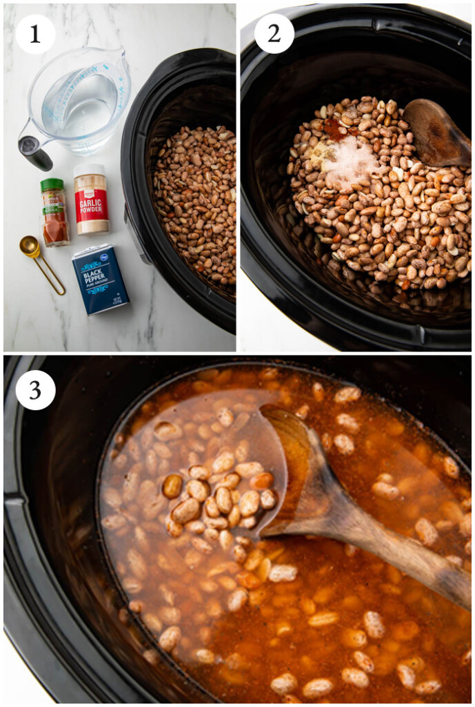 Instructions for slow cooker pinto beans