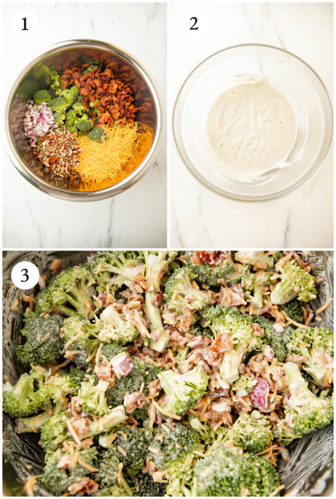 Instructions for keto broccoli salad