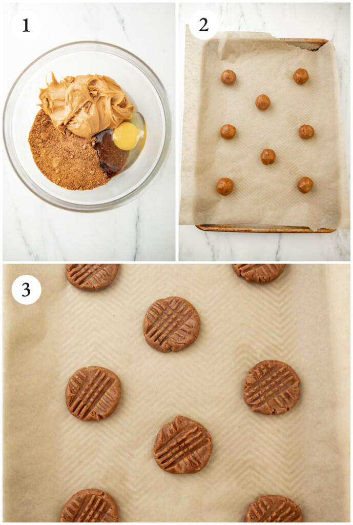 Instructions for peanut butter cookies