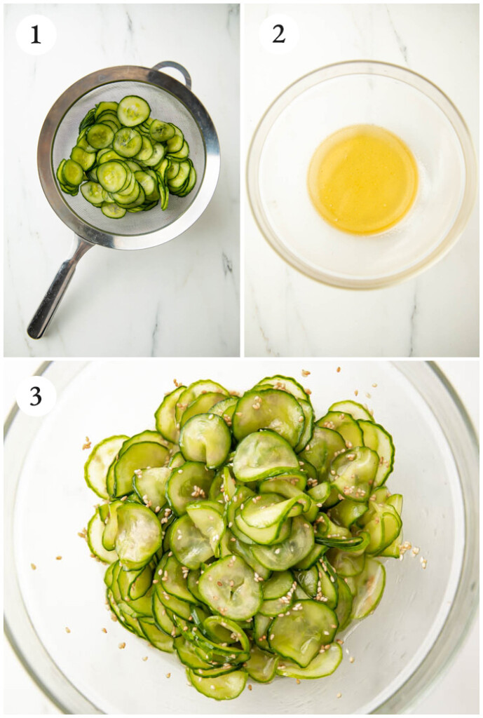 Instructions for simple Asian cucumber salad