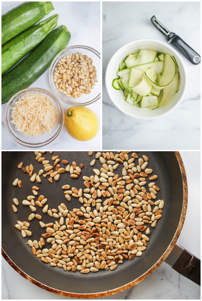 Instructions for zucchini salad