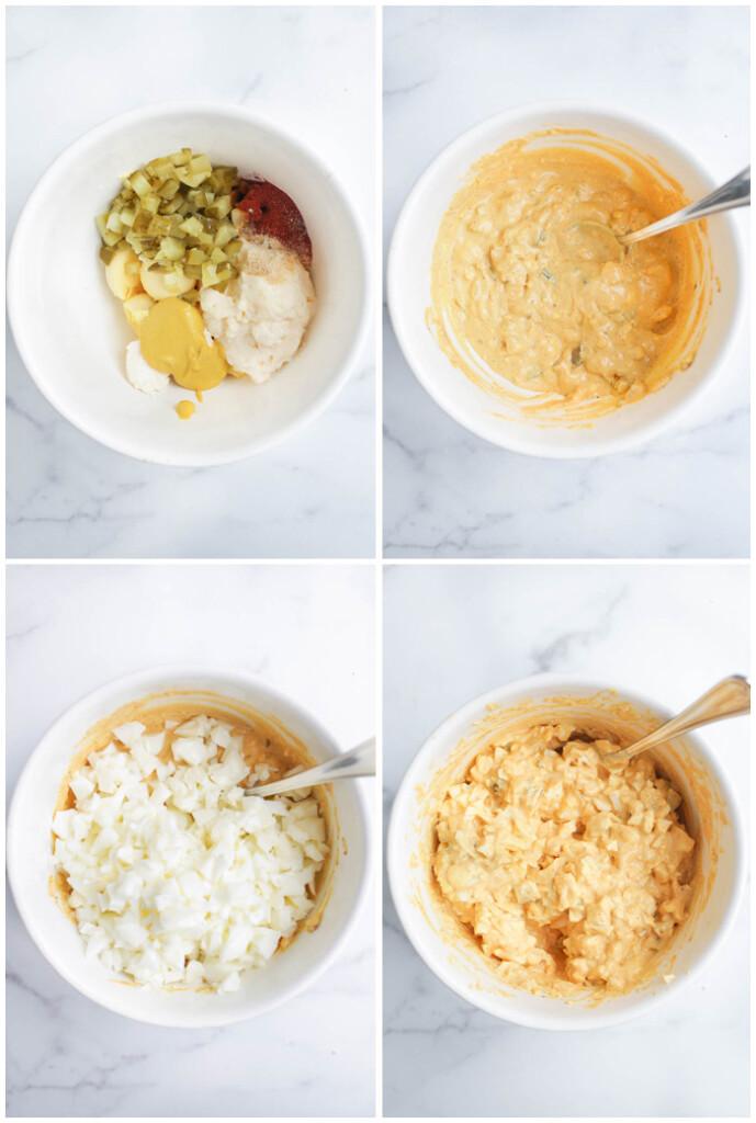 Instructions for deviled egg salad