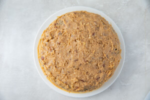 Frosted keto German chocolate cake