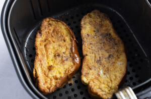 French toast in air fryer basket